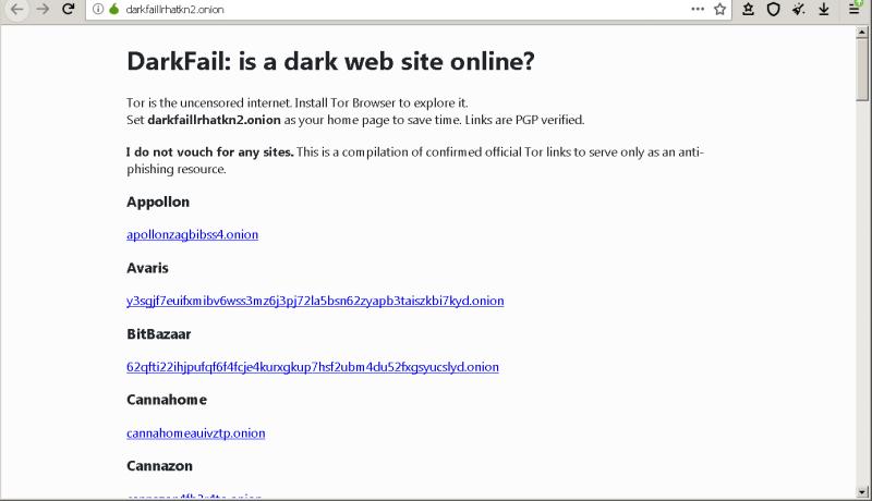 Dark Fail Link